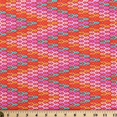 Tula Pink, Chipper, The Wanderer, Sorbet Fabric