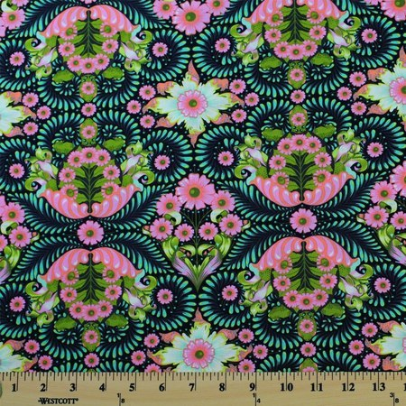 Tula Pink, Slow & Steady, The Tortoise, Strawberry Kiwi Fabric