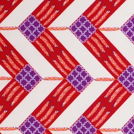 Zandra Rhodes, Feathered, Zig Zag, Berry Fabric