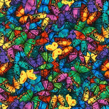 Chong-a Hwang, Packed Butterflies Fabric