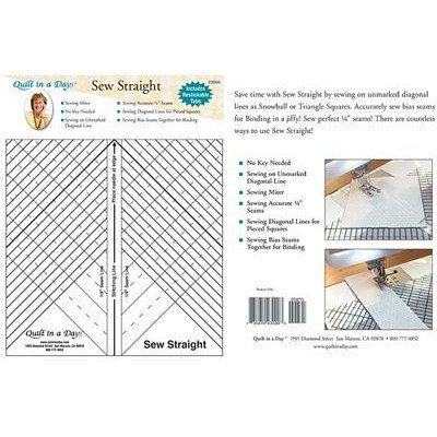 Sew Straight Ruler, Quilt in a Day
