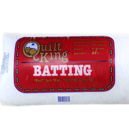 "Quilt King Polyester Batting 120""x 120"", Super King"