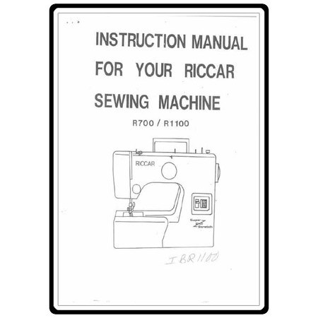 Instruction Manual, Riccar R1100