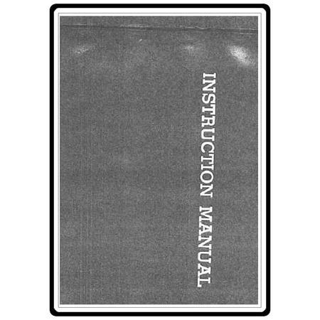 Instruction Manual, Riccar 1500