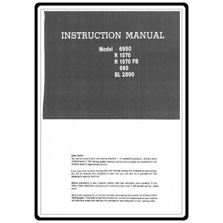 Instruction Manual, Riccar R1570FB