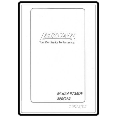 Instruction Manual, Riccar R734D
