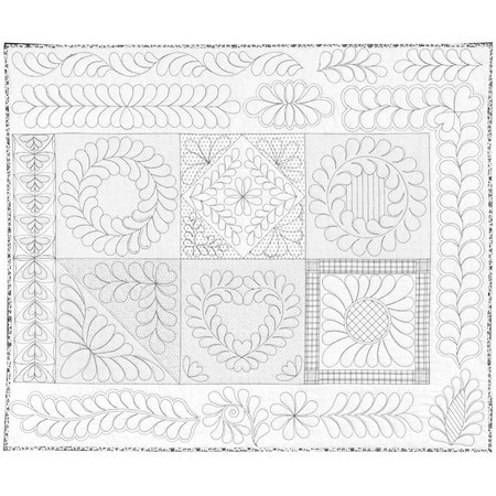 Machine Quilting Skillbuilder 2 Fabric Panel