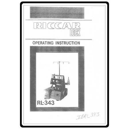 Instruction Manual, Riccar RL343