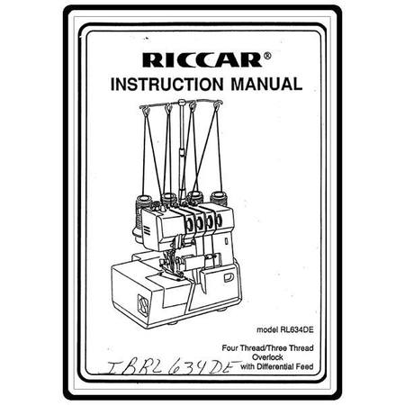 Instruction Manual, Riccar RL734DE