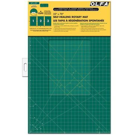 "Olfa 35"" x 70"" Continuous Grid Mat Set #RM-CLIPS/3"