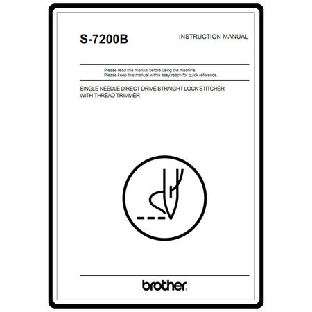 Instruction Manual, Brother S-7200B