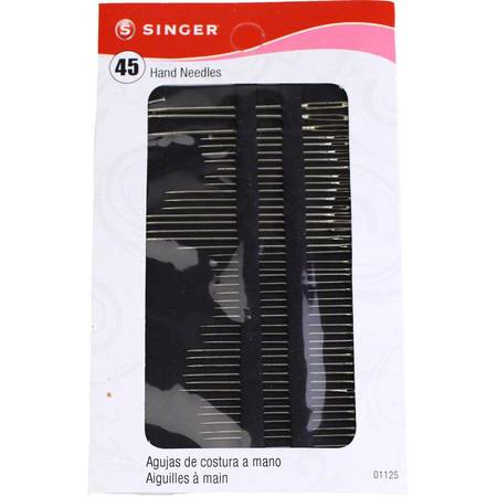 Singer Assorted Hand Needles 45pk #S01125