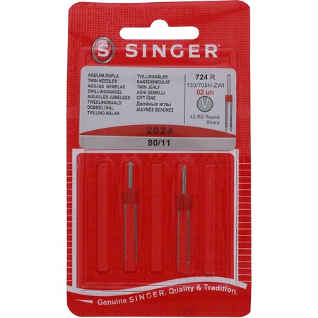 4mm Twin Needles, Singer, Size 75/11 #S2024-11