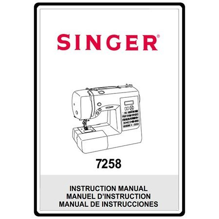 Instruction Manual, Singer S800 Fashionista