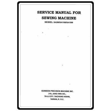 Service Manual, Simplicity SA200