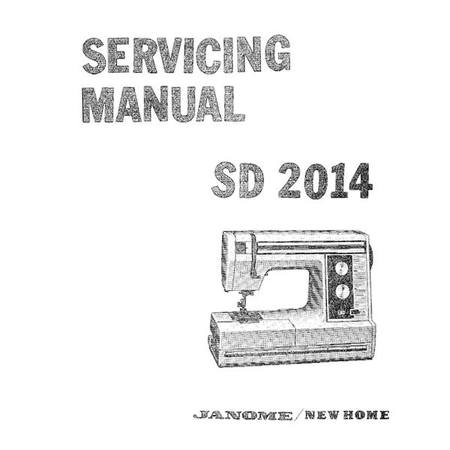Service Manual, Janome SD2014
