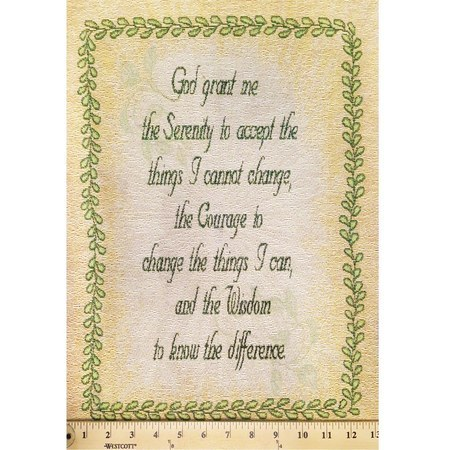 Serenity Prayer Mini Tapestry Fabric Panel
