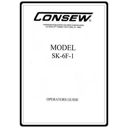 Instruction Manual, Consew SK-6F-1
