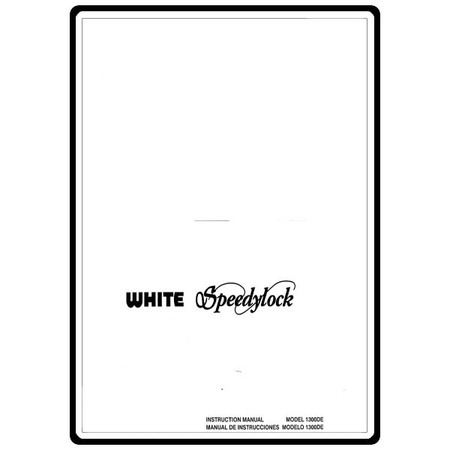 Instruction Manual, White 1300DE