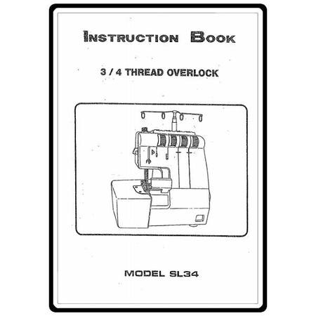 Instruction Manual, White SL34