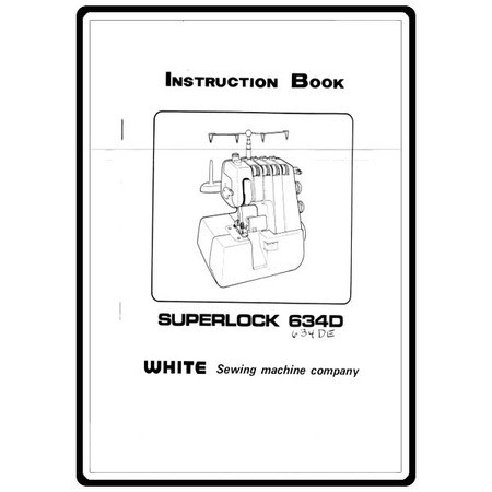 Instruction Manual, White SL634DE