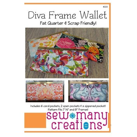 Diva Frame Wallet Pattern, Sew Many Creations : Sewing Parts Online