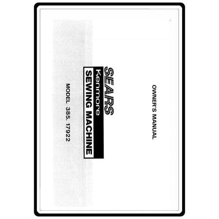 Instruction Manual, Kenmore 385.17922 Models
