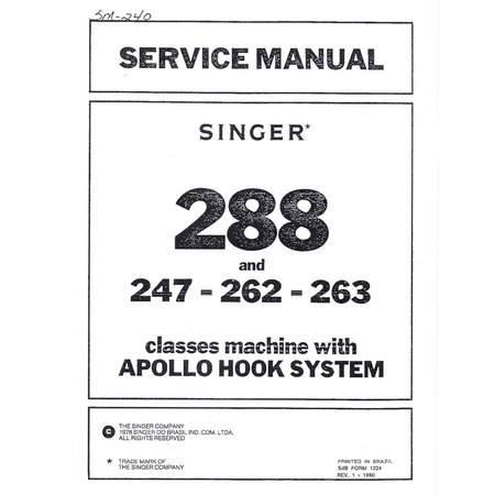 Service Manual, Singer 247