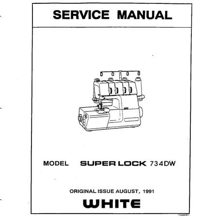 Service Manual, White 734DW