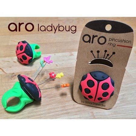 Aro Pin Cushion Ring, Ladybug, Smartneedle