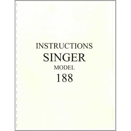 Instruction Manual, Singer 188