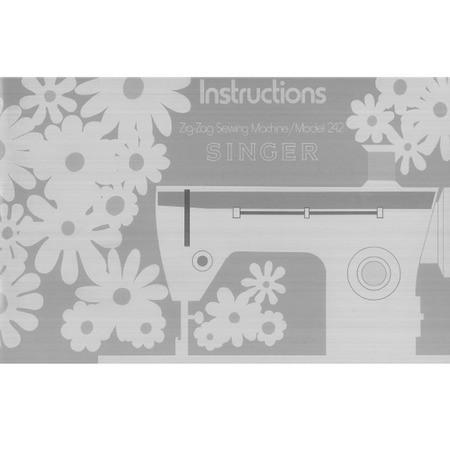 Instruction Manual, Singer 242