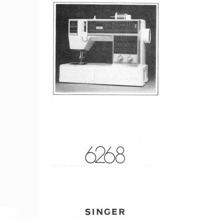 Instruction Manual, Singer 6268