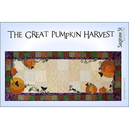 The Great Pumpkin Harvest Table Runner Pattern