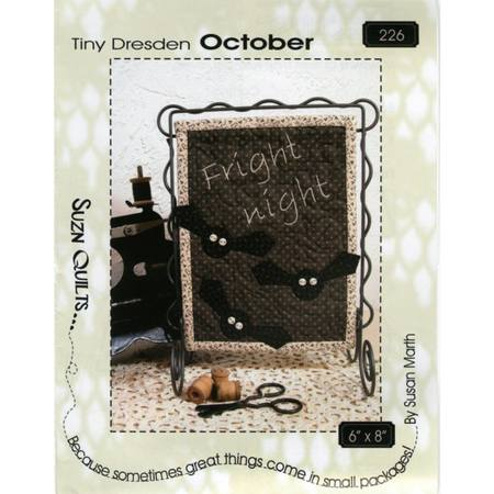Tiny Dresden Pattern, October, Susan Marth
