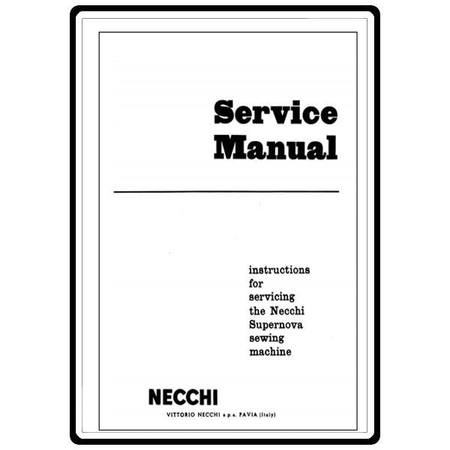 Service Manual, Necchi Supernova