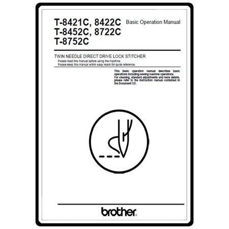 Instruction Manual, Brother T-8421C