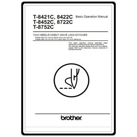 Instruction Manual, Brother T-8752C