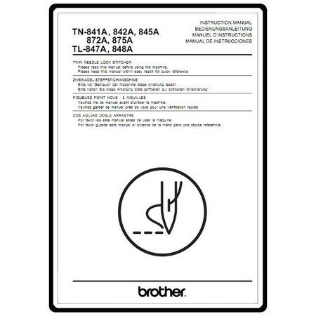 Instruction Manual, Brother TL-848A