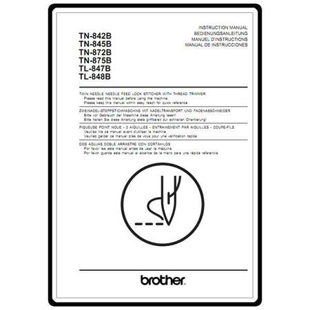 Instruction Manual, Brother TL-848B