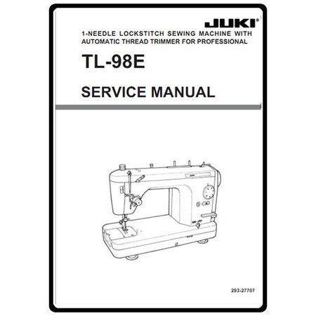 Service Manual, Juki TL-98E