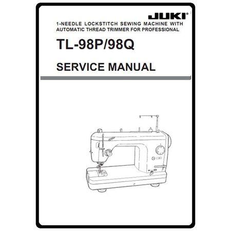Service Manual, Juki TL-98Q