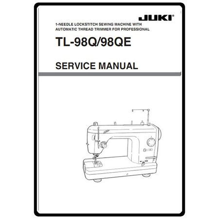 Service Manual, Juki TL-98QE