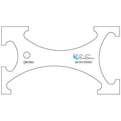 QR Reverse-A-Rule Curve 2 Longarm Template, EverSewn