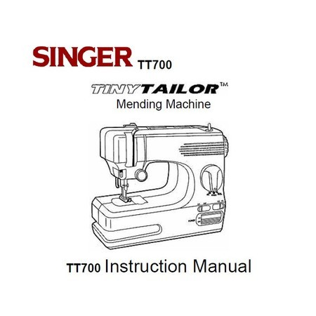 Instruction Manual, Singer TT700
