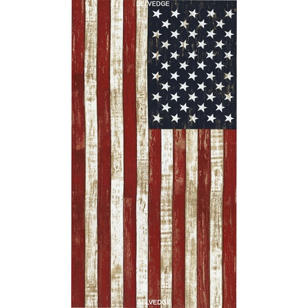 Timeless Treasures, American Flag Fabric Panel