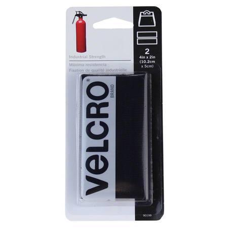 Velcro Press-On 4x2, 2pack Black #90199