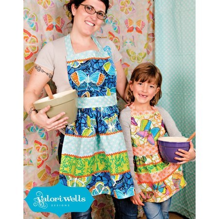 Sewing Card, Mommy & Me Apron Pattern, Valori Wells Designs