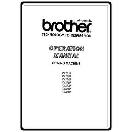 Instruction Manual, Brother VX-2010