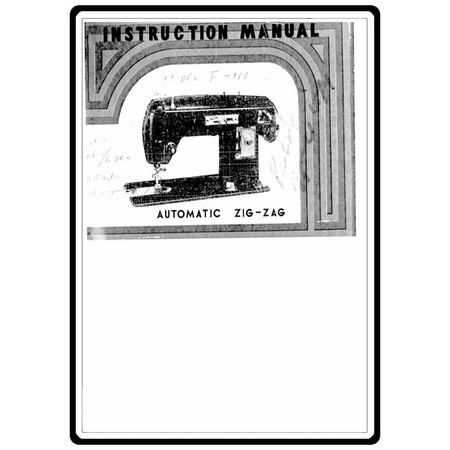 Instruction Manual, Singer WF111